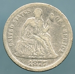 1877 Seated Dime Good