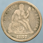 1877 Liberty Seated Dime Very Good/Fine