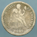 1883   Seated Dime Very Good