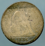 1886   Seated Dime About Good