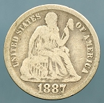 1887  Seated Dime Good