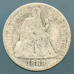 1888 Seated Dime Good