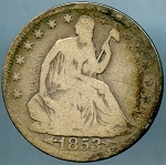 1853 A & R Liberty Seated Half Dollar Good