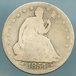 1854  Seated Half Dollar Good