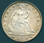 1854 O Liberty Seated Half Dollar Choice AU-55