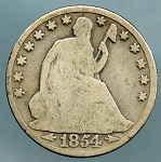 1854 O Liberty Seated Half Dollar AG