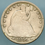 1854 O Liberty Seated Half Dollar Good / VG