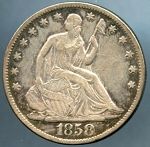 1858 O Liberty Seated Half Dollar Choice VF-35