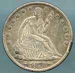1874 Liberty Seated Half Dollar XF-40