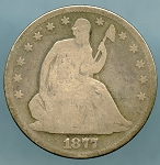 1877 Liberty Seated Half Dollar Good