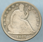 1877 Seated Half Dollar Good