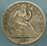 1877 Liberty Seated Half Dollar Very Good