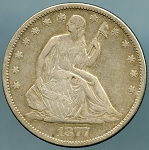 1877 S Liberty Seated Half Dollar VF-20