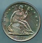 1878 Liberty Seated Half Dollar Choice Proof-63