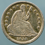 1838 Seated Dime Small Stars Fine