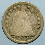 1853 Liberty Seated Half Dime Good