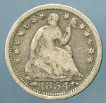 1854 Liberty Seated Half Dime Very Good