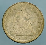 1856 Seated Half Dime About Good