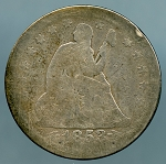 1853 A & R Seated Quarter About Good