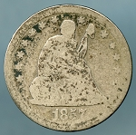 1857 Seated Quarter Good