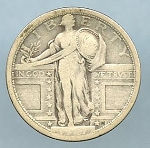 1917 T1 Standing Quarter Very Good - Weak Date