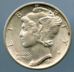 1941 S Mercury Dime MS 60