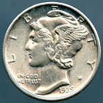 1939 D Mercury Dime MS-63