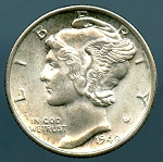 1940-D Mercury Dime MS-63