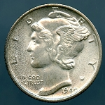 1940-S Mercury Dime MS-60
