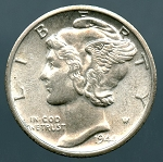 1944-D Mercury Dime MS-60