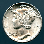 1944 D Mercury Dime Choice B.U. MS-63