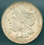 1921 Morgan Dollar XF 45