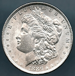 1886 Morgan Dollar AU 50