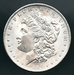1884 O Morgan Dollar MS 63