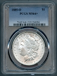 1885 O Morgan Dollar PCGS MS 64 plus