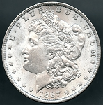 1887 Morgan Dollar MS 63
