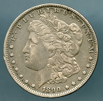 1890 O Morgan Dollar VF 35