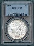 1897 Morgan Dollar PCGS 63