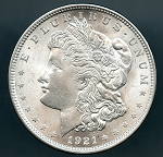 1921 Morgan Dollar MS 62