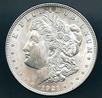 1921 Morgan Dollar MS 63
