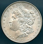 1878 7 T.F. Morgan Dollar AU-55
