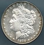 1878 7 TF Morgan Dollar Choice B.U. MS-63