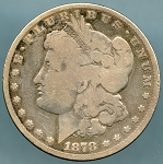 1878 7 TF Morgan Dollar About Good