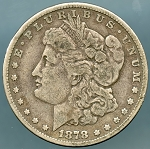 1878 7 TF Morgan Dollar Good
