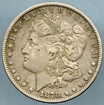 1878 7TF Morgan Dollar Fine