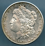 1878 S Morgan Dollar B.U. MS-60