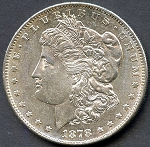 1878 S Morgan Dollar B.U. MS-62