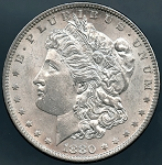 1880 O Morgan Dollar B.U. MS-60
