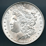 1882 Morgan Dollar MS 63 plus