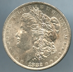 1882 O Morgan Dollar Choice B.U. MS-63
